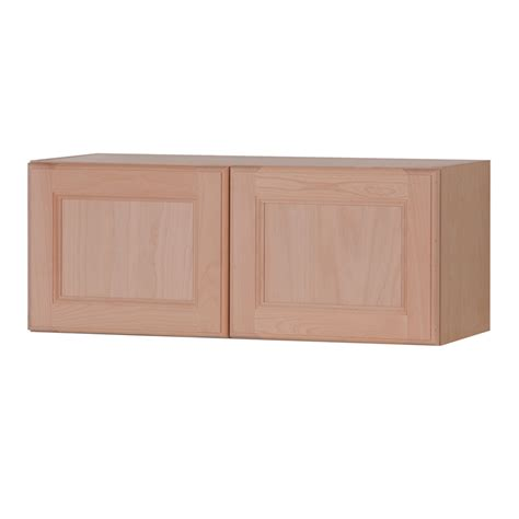unfinished kitchen wall cabinets shop style selections 30 in w x 12 in h x 12 6 in d