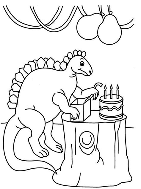 birthday dinosaur coloring page free dinosaur birthday coloring pages