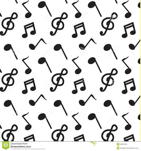 vector pattern with music notes black note music pattern vector stock vector image 52097026