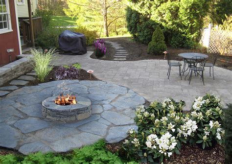 Patios With Fire Pits by Nh Landscaping Designs Of Patios Fire Pits Natural Stone