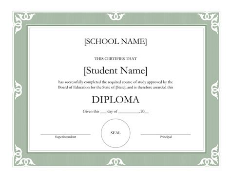 school certificate templates pin high school diploma certificate template on
