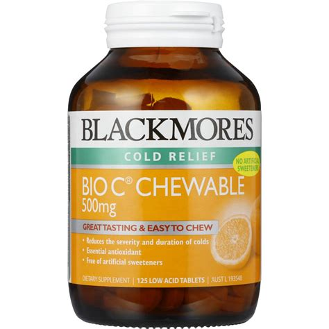 Blackmores Vitamin C Buffered 120tablet blackmores cold relief bio c chewable 500mg 125pk woolworths