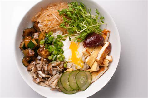 vegetarian bibimbap korean rice with vegetables and kochujang recipe herbivoracious