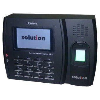 Mesin Absensi Solution Finger solution mesin absensi sidik jari finger print x100 c