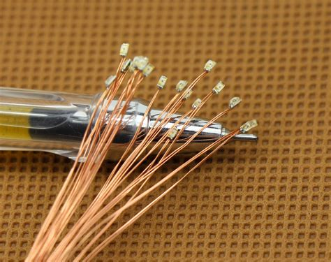 Led Micro Lights c0603b 20pcs pre soldered micro 0 1mm copper wired blue