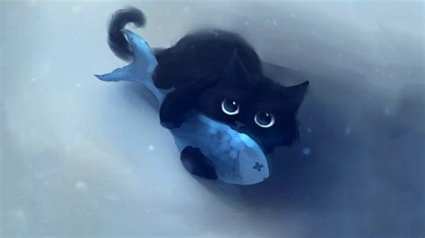 anime kitten hd wallpaper 18636 baltana animals fish food cat wallpapers hd desktop and