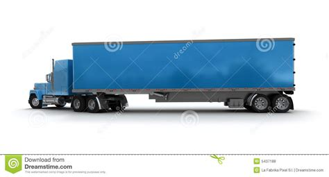 blue trailer blue trailer truck cargo container royalty free stock
