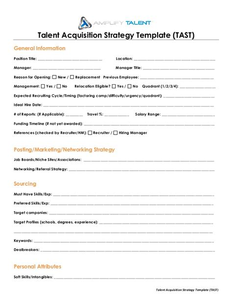 Talent Acquisition Project For Mba by Talent Acquisition Strategy Template Lify Talent