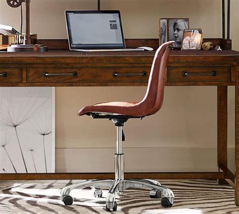 swivel desk chair mitchell swivel desk chair pottery barn