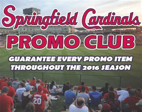Cardinals Giveaway Schedule - cardinals promo club springfield cardinals tickets