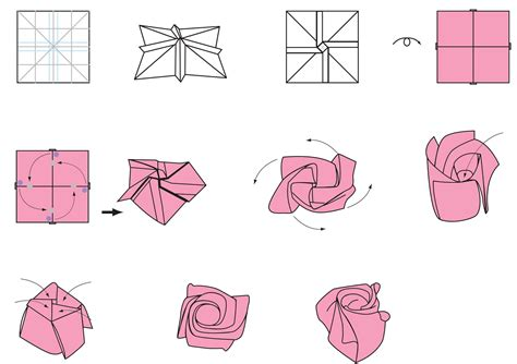 How To Make Paper Roses Step By Step With Pictures - origami origami printable ot origami