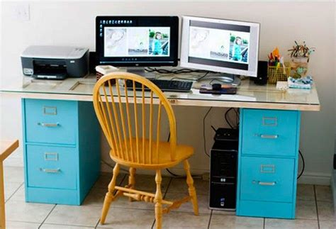 diy desk using file cabinets how to turn a file cabinet into a desk diy projects for