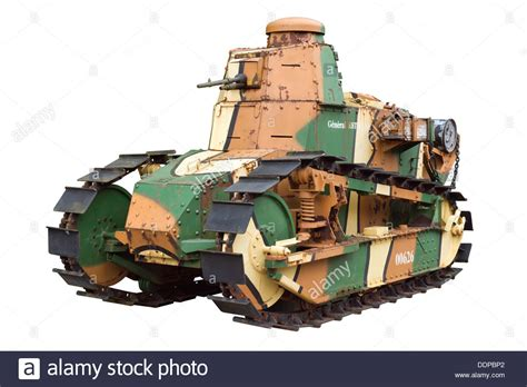 renault f1 tank a cut out of a renault ft 17 ww1 camouflaged tank