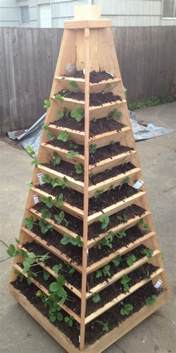 Make Vertical Garden How To Build A Vertical Garden Pyramid Tower For Your Next