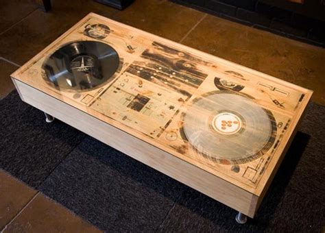 music themed furniture scratch dj coffee table cool material