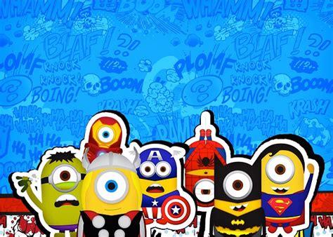imagenes de minions super heroes imprimibles de minions super h 233 roes etiquetas tarjetas