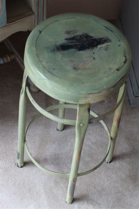Is Green Stool Bad bad rabbit vintage painted furniture with attitude milk paint on metal