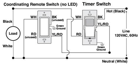 wiring diagram for three way switches with pilot light in