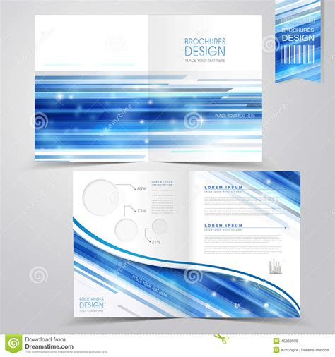 abstract technology background design for half fold