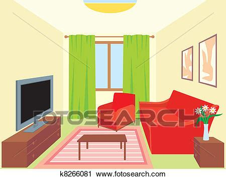 wohnzimmer clipart clipart of living room k8266081 search clip
