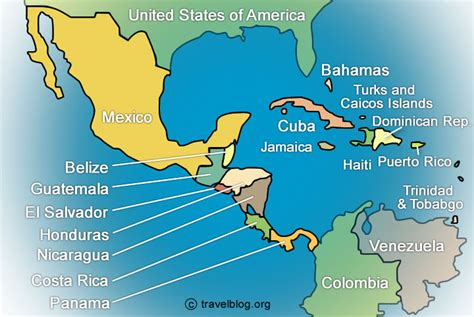 central america the caribbean map central america caribbean travel blogs photos and forum