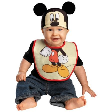 Branded H 300810 Mickey Mouse mickey mouse bib hat mickey mouse costume