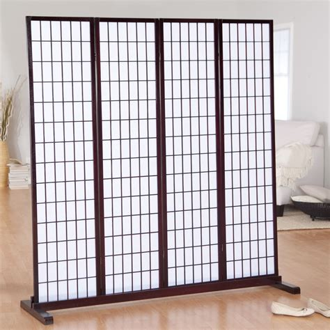 room dividers jakun 4 panel shoji room divider with optional stand room dividers at hayneedle