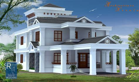 4 room house 4 bed room kerala house architecture kerala