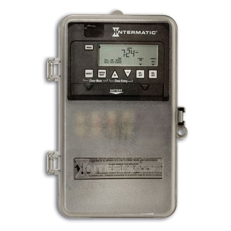 Switch Timer intermatic 24 hour electronic time switch 2 circuits