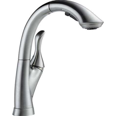 delta linden kitchen faucet delta linden single handle pull out sprayer kitchen faucet