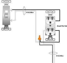 wiring a switched outlet wiring diagram power to receptacle electrical