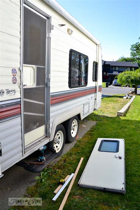 Small Kitchen Redo Ideas the 1 67 travel trailer door repair and a lesson funky