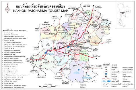 korat thailand maps of korat nakhon ratchasima province and city