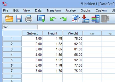 spss tutorial input data entering data in spss statistics laerd statistics