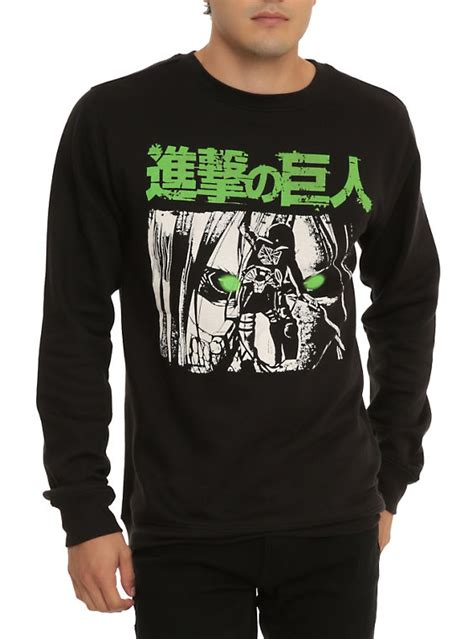 Sweater Jaket Attack On Titan Snk Sporty All Edition attack on titan green crew pullover topic