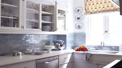 light blue kitchen backsplash white and grey subway tile designs blue gray subway