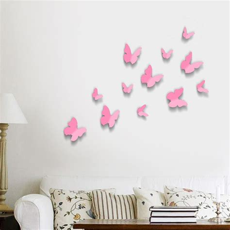 Wall Sticker Eye Butterfly Pink wall stickers butterflies kamos sticker