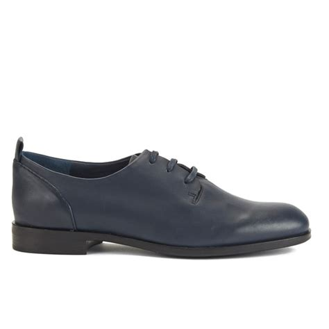jil sander navy s leather lace up shoes navy