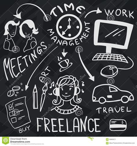 doodle freelance doodles about freelance with and clock
