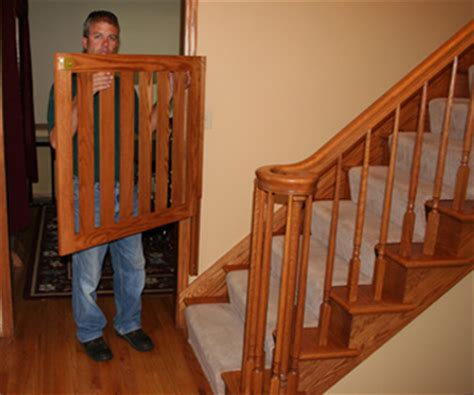 Baby Gate For Bottom Of Stairs With Banister Gatekeepers Baby Gates Pet Gates Safety Gates Child