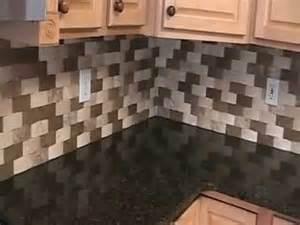 backsplash with speartec basket weave travertine tile