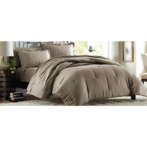 Thread Count Comforter by Cannon 300 Thread Count Damask Stripe Comforter Set