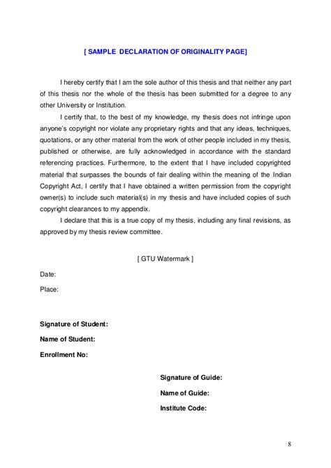 dissertation declaration dissertation declaration statement