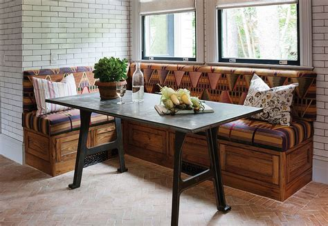 Superior Farmhouse Kitchen Portland #6: Handcrafted-reclaimed-chestnut-bench-for-the-rustic-banquette.jpg