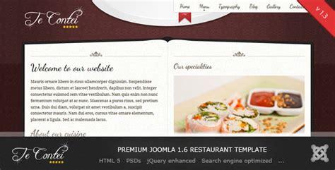 joomla restaurant template free te contei joomla 1 6 restaurant template by demente