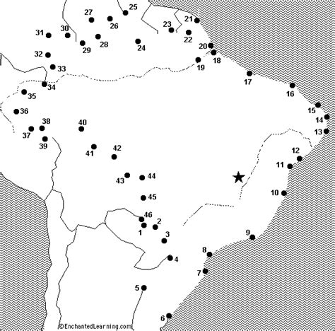 america map enchanted learning dot to dot mystery map brazil enchantedlearning