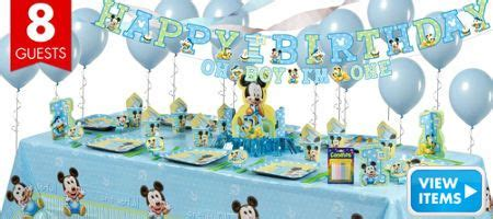 mickey mouse st birthday party supplies party city birthday st birthday party supplies