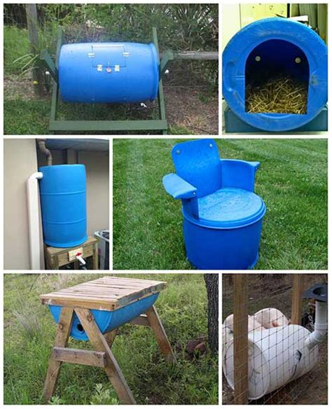 55 gallon drum dog house 10 impressive things to make with 55 gallon plastic barrels pvc n pipes pinterest