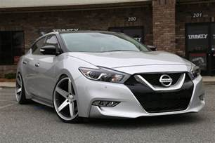 Nissan Maxima Dropped Lowered 2016 Nissan Maxima Concavo Wheels