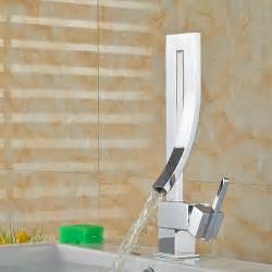 Unique Bathroom Fixtures Unique Desing Single Handle Waterfall Basin Faucet Tap Deck Mounted Brass And Cold Bathroom